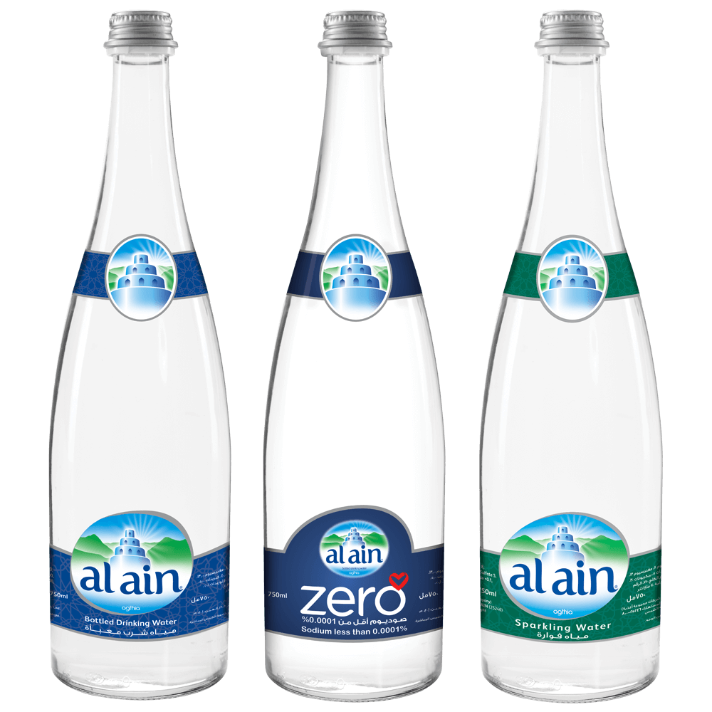 Glass Bottles mineral water
